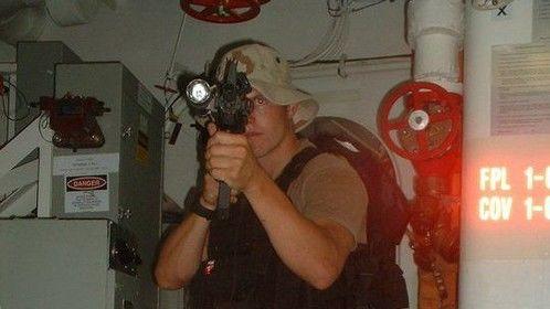 Training before deployment.