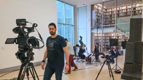 On set for PQV's crowdfunding video