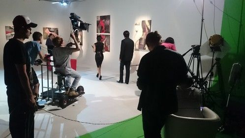 """Shooting an art gallery scene from the feature """"Innocent Killer"""" Feb 2016"""