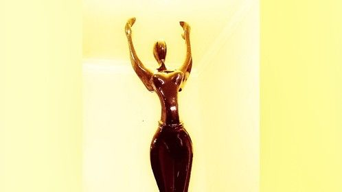Africa Movie Academy Awards plaque for Best Short Film won by Meet The Parents at the AMAA 2016
