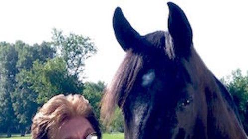 Me & Jett! My 13 year old Tennssee Walking horse gelding.