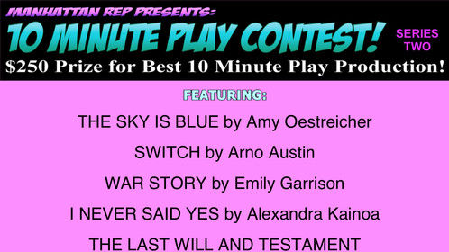 """One of my favorite scenes from IMPRINTS - """"The Sky is Blue"""" is part of Manhattan Rep's Short Play Contest - I'd love anyone to come support if they're in New York on August 17th or 20th. Your vote counts! You can get tickets here: http://manhattanrep.com/10-minute-play-contest-series-2-august-2016/"""