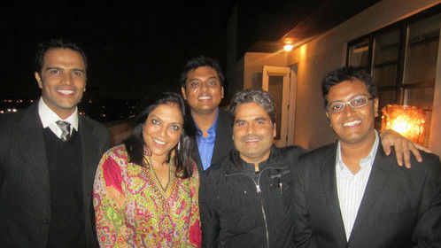 With the acclaimed Directors Mira Nair & Vishal Bharadwaj at the I View New York Film Festival