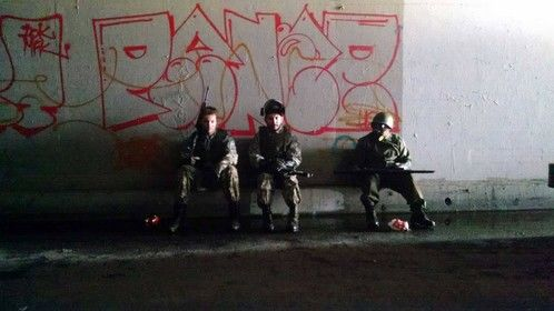 On Pandemic Set chilling with my fellow guards.