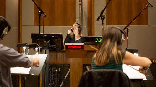 "Recording the score for ""The Devil's Dolls"""