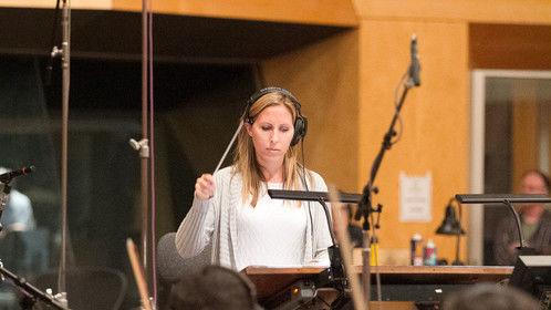 Recording an orchestra at Fox Studios.
