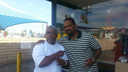 Haqq Shabazz & Mike Epps hanging out in north hollywood
