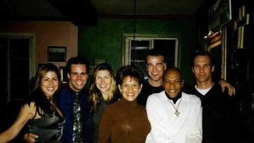 1997-Ian Buchanan's Place with Finola Hughes, Longtime Friend Tracie Hendricks, Valentino Harris, Ian Buchanan, and guests.