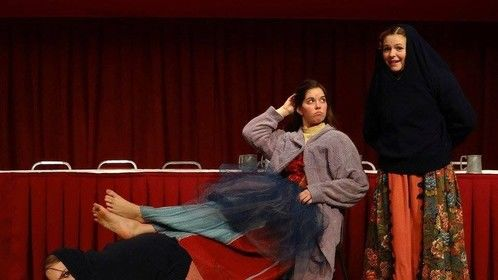 #fbf for that one time I was Jester for Ashland University's Madrigal Feaste. This is a shot from an improv skit that I wrote, directed, and acted in!