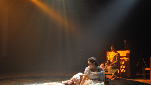 """""""O Marinheiro"""", performance developed in my Masters Degree in Acting/Directing"""