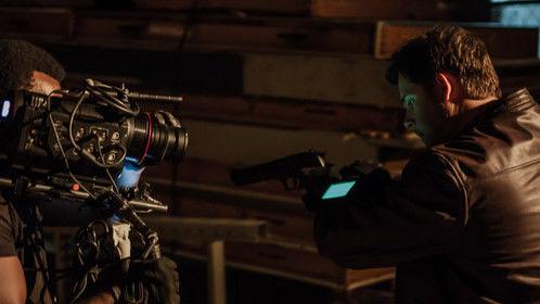 "Jason Wiechert stars as Brett Ridge in the upcoming sci-fi action series ""NetFall""."