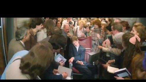 """""""The Theory of Everything""""/Conference scene. Role: journalist (two ros back, directly behind Eddie Redmayne)."""