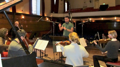 Conducting the recording session for 'Lily Beetle' (2011)