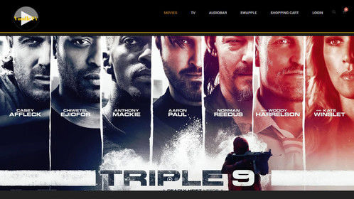 VoodleTV Movies Page, Opening Page/Home Page
