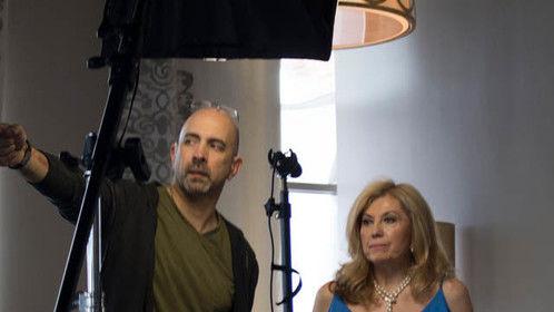 On set...directing.