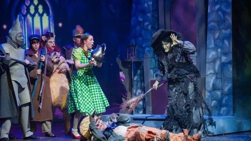 """Now that witch season, or as some people say """"fall"""", is approaching, let's flashback to this scene from an Ashland University production of The Wizard of Oz with Andrea Disch asthe iconic Wicked Witch of the West!"""