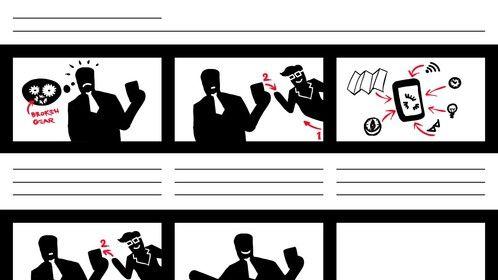 b&w storyboard