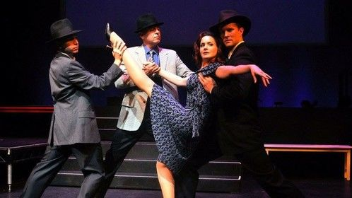 Performing in the Los Angeles Premiere of SONDHEIM ON SONDHEIM w/ Jake Novak (R), Kevin McMahon, and Josh Wise (L).