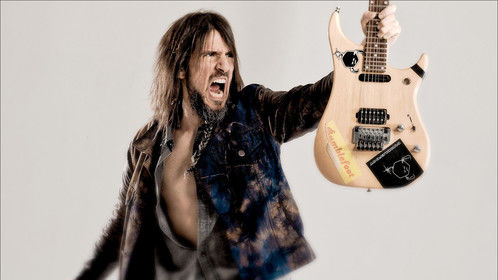 """Guitarist Ron """"Bumblefoot"""" Thal. Shot while Ron was on a break from touring with Guns N Roses"""