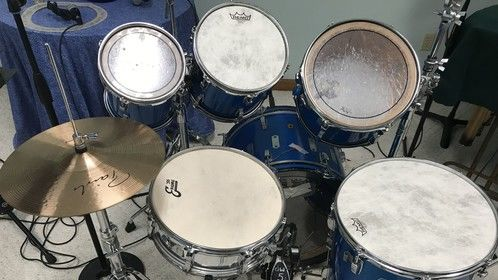 New Remo head on toms and Evans on Snare