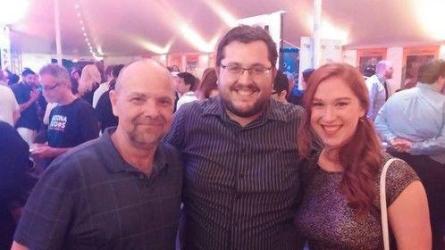 With director Rustin Odom and actress McKenzie Jones