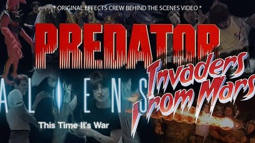 *PREDATOR, ALIENS, & INVADERS FROM MARS* All my friends from the movie industry, and those that aren't, I finally started my Kickstarter preview of my 3-videos I made while working on these films. Go see what I, and my now famous friends, did back then. The campaign goes live on May 8th. A 3-minute video will explain all.  Scroll down to see the page. https://kck.st/2virlXd