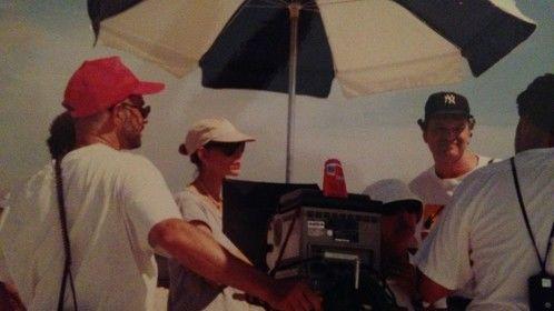 Shooting a commercial on Jones Beach.