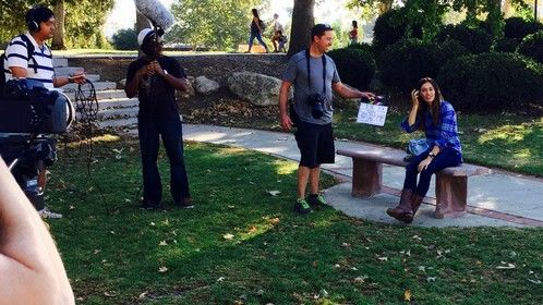 """On the set of my short film """"Cookie""""."""