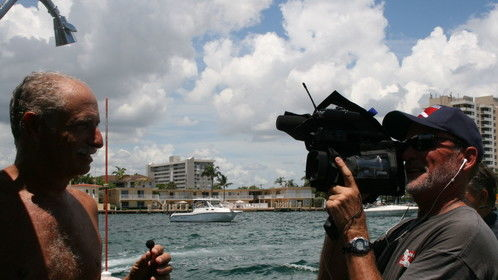 """Diver interview for """"Dive Charter"""" reality show"""