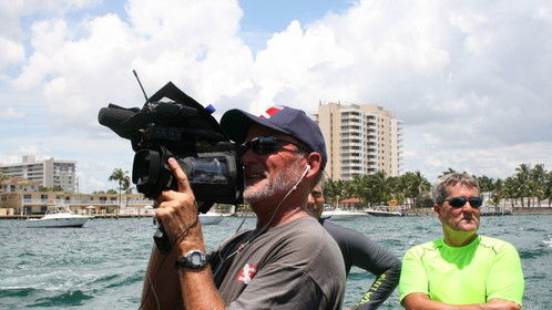 """Shooting footage for """"Dive Charter"""" reality show"""