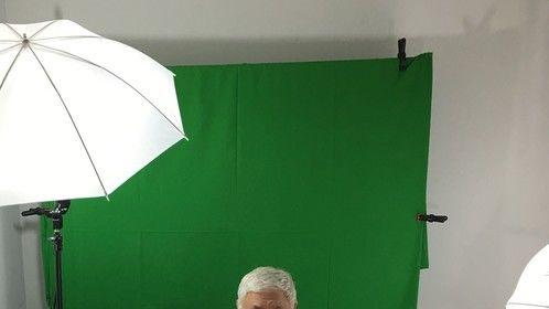 Green screen shoot for business video