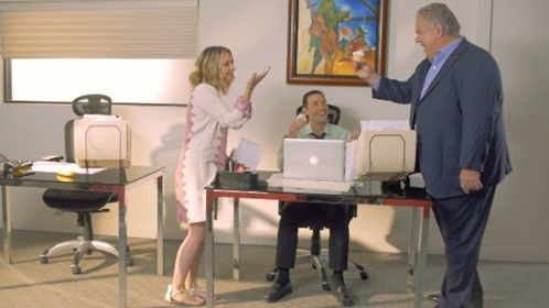 """Movie still from """"Dance Baby Dance"""" with me, Beverley Mitchell and Jim O'Heir"""