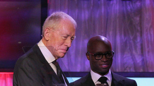 Edward Sylvan and Max Von Sydow at Movie for grownups Awards