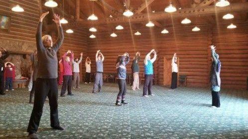 Instructing a Tai Chi & Qi Gong class
