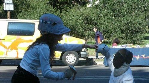 Fencing Lessons ~ Volunteering for the Haight Ashbury Street Fair