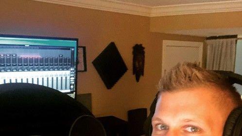 Recording some vocals