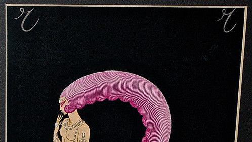 Erte (Romain de Tirtoff) 1976 Aphabet Series