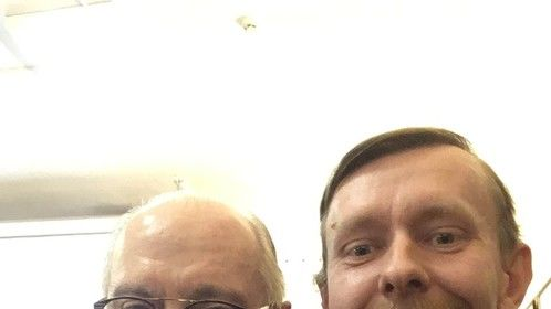 With a President of Filmmakers Union of Russia Nikita Mikhalkov.