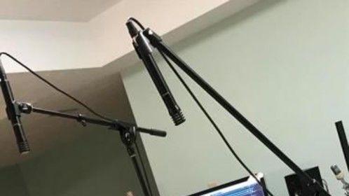 Congas in studio area