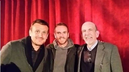 with Jason Segel and Director Charlie McDowell at The Discovery preview in Boston 2017