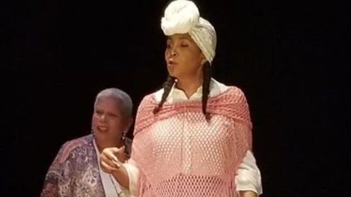 A Wound in Time: The Play.   Playing Iya Carmen