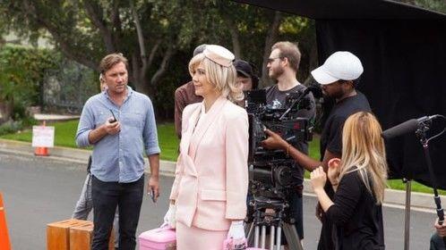 "On the set of ""Beauty Mark"""