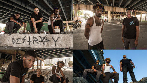 "My photography of ""Dwight Ricky and Tristan"" in overtown Miami"