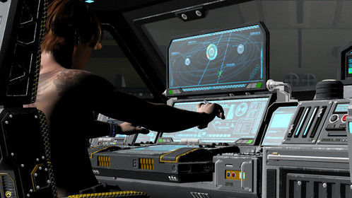 """Finn MacKool on the Starship Antares in Movie 3 of """"Identicide"""" trilogy."""