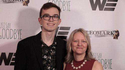 Director/Co-Producer Matt Walting w/Screenwriter/Co-Producer Layla O'Shea at Just Say Goodbye L.A. Premiere
