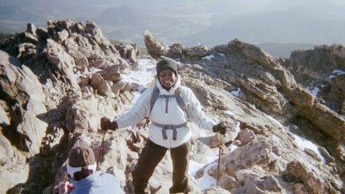 Rocky Mountains' Twin Sisters Peak