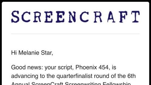 """Incredibly proud of my action/drama feature script, """"Phoenix 454"""", which was selected as a Quarter Finalist in the distinguished ScreenCraft Screenwriting Fellowship. I'm looking to connect with Producers and Executive Producers who can help get Phoenix 454 made into the blockbuster that I wrote it to be! ;)"""