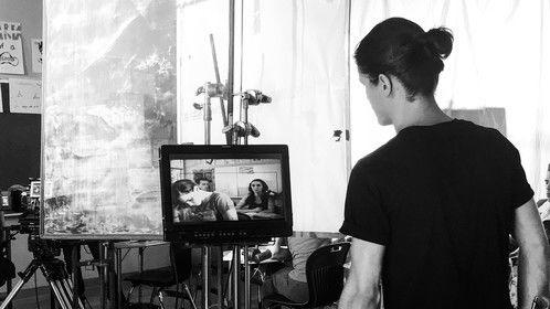 Nicolas Wendl on set directing a new PSA written by Travis Flores. Nov 2019.