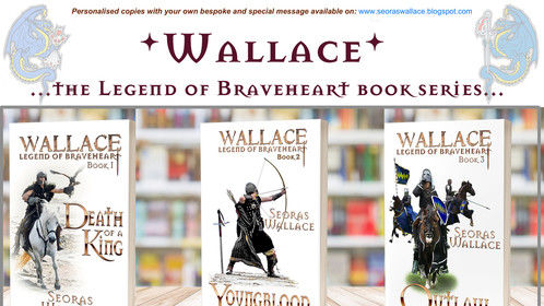 Wallace, the legend of Braveheart book series (9). This dramatic account is the first time the legend of the Clan has been made public by the traditional family Seanachaidh (Storyteller) as has been passed down the generations of the family Wallace, recalled from eyewitness accounts by those who took part in actual events… Each novel in the series follows a different time period in the life of William Wallace, from a young man free of woes and cares to a life that descends into the living hell of total war.
