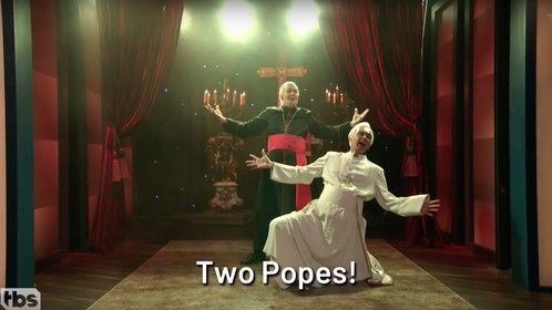 Jake as Pope Benedict on Conan